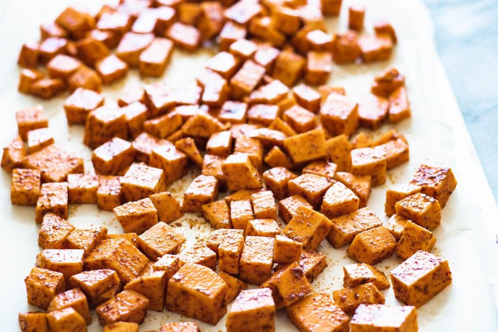 Sweet potatoes for Sweet Potato and black bean enchiladas