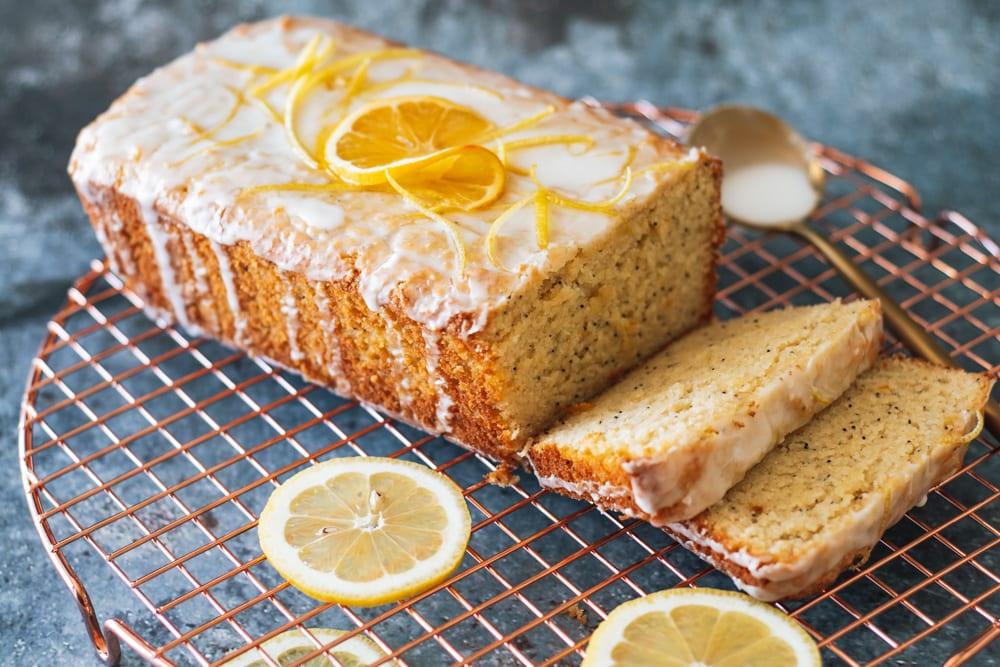 Grain Free Lemon Poppy Seed Loaf Cake- The Seasonal Junkie