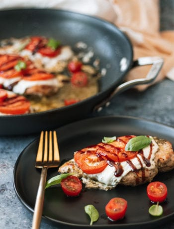 Caprese Chicken breast on a plate